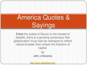 America quotes & sayings