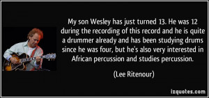 More Lee Ritenour Quotes