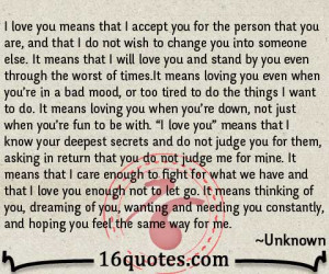 Love You Means quote