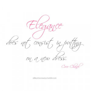 Coco chanel quotes sayings elegance meaning