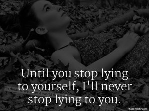 Lying To Yourself by Example