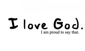 black and white, i love god, quotes, smile god loves you!, text