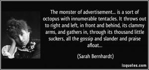 Sarah Bernhardt Quotes About Gossip