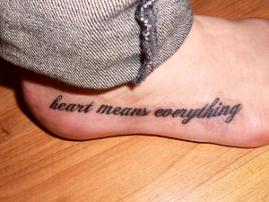 Side Foot Tattoo Quotes