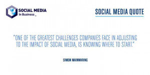 SOCIAL MEDIA QUOTE – Simon Mainwaring