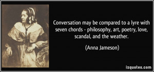 Conversation may be compared to a lyre with seven chords - philosophy ...
