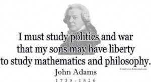 ThinkerShirts.com presents John Adams and his famous quote