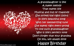 Birthday poems for granddaughter