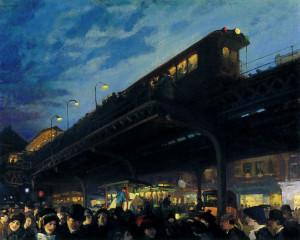 ... French Sloan, American Art, John French, 1912 John, O' Clocks, Ashcan