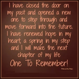 ... my step and i will make the next chapter of my life one to remember