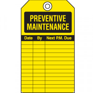 ... > Inspection Tags > Safety Inspection Tags - Preventive Maintenance