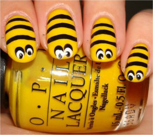 bumblebeenails Bumblee Bee Nails!