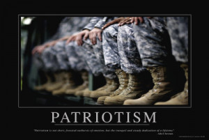 Military Army Motivational Patriotic Poster