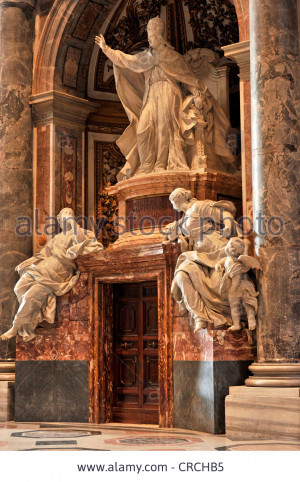 Stock Photo Monument to Pope Benedict XIV St Peter 39 s Basilica