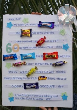 Candy Bar Card for a Friend's 60th Birthday!