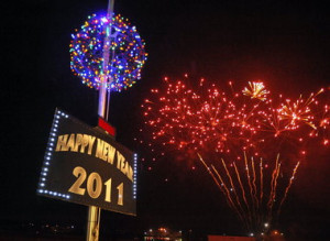 Throw New Year Ball Drop Party
