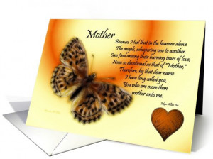 Get Well ~ Mother / Quote ~ Fractalius Butterfly / Heart card (764715)