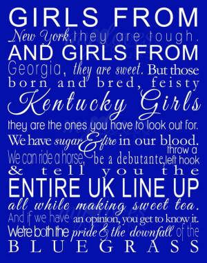 Kentucky GirlsBig Blue, Blue Blood, Bleeding Blue, Kentucky Girls ...