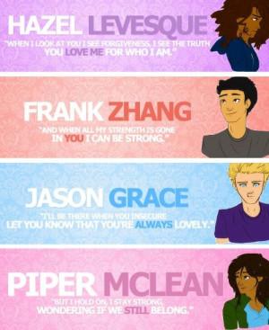 Hazel Levesque, Frank Zhang, Jason Grace, and Piper McLean: Internet ...