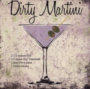 Dirty Martini by Louise Carey art print