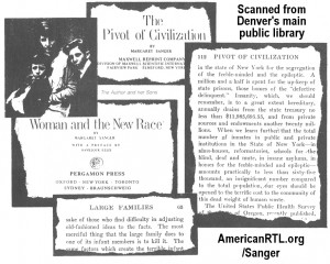 Margaret Sanger Quotes Human Weeds Clinic