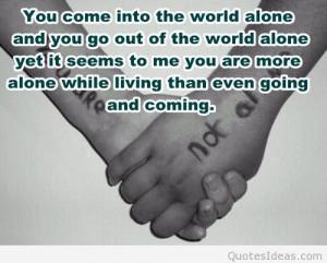 cool sad alone quote