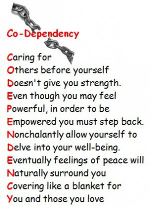Codependency poem written by poet, Eileen Marie