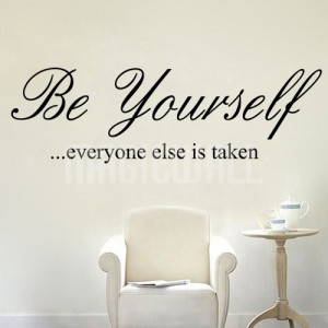 Home » Be Yourself - Quote - Wall Decals Stickers