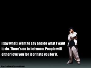 Eminem, quotes, sayings, slim shady, about people