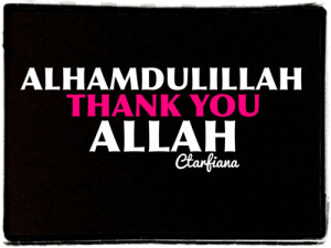Thank you Allah for another day to repent.