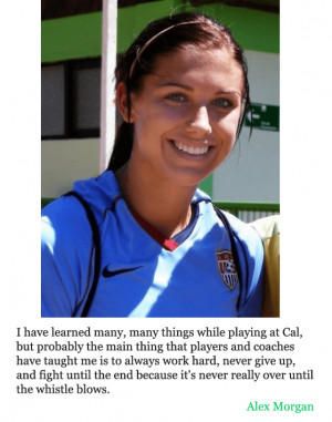 alex morgan quotes about soccer –Image via: wikipedia