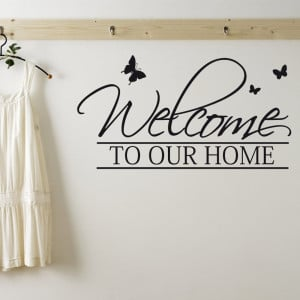 Home › Quotes › Welcome To Our Home Wall Sticker Quote