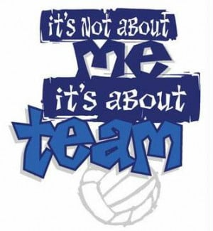 teamwork sayings volleyball