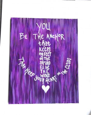 the anchor canvas painting Beach decor Mayday parade song Anchor quote ...
