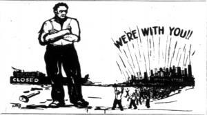 Union Labor Strikes Cartoons