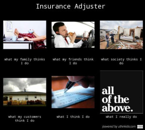 Insurance adjuster, What people think I do, What I really do meme ...