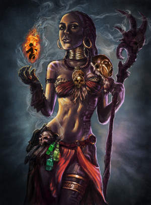 Voodoo Princess by ~isdira