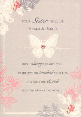 Download Image for Loss of Sister Sympathy Card