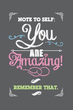 You Are Amazing Chalkboard Inspirational Printable | Tween Craft Ideas ...