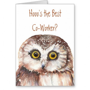 funny_co_worker_birthday_wise_owl_humor_cards ...