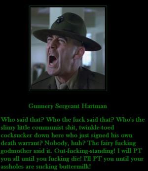 Gunnery Sergeant Hartman by MexPirateRed