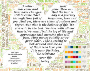 birthday 70th birthday poem word cloud art 8 x 10 digital jpg unique ...