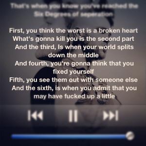 six degrees of separation. #nowplaying #music #lyrics #instagram # ...