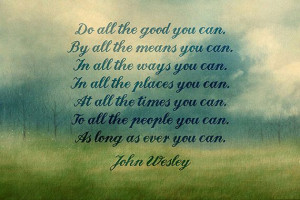 Watercolor Written Art Print of John Wesley quote