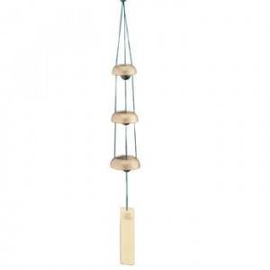 ... Gift Ideas, 25-Inch Temple Bell Trio Japanese Zen Hanging Wind Chimes