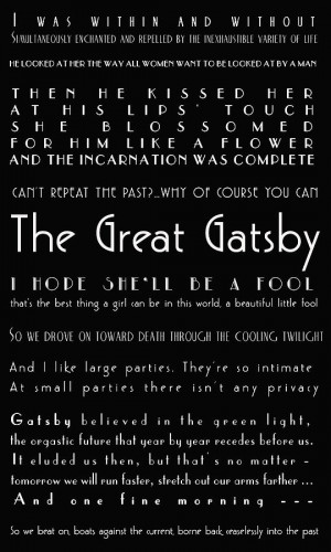 Gatsby Quotes Photograph - The Great Gatsby Quotes Fine Art Print