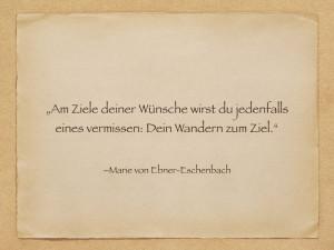 Zitat - Marie von Ebner-Eschenbach