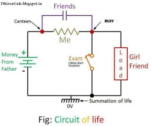 Funny Physics Circuit Diagram - Showing Circuit of Life
