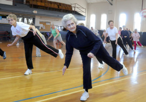 exercise 4 fitness – foreground is joyce wendt 80 seniors exercise ...