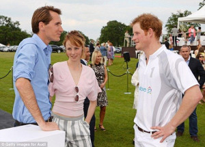 Model Edie Campbell and Otis Ferry chat to Prince Harry at Coworth ...